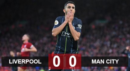 Liverpool 0-0 Man City: Mahrez hỏng 11m, Man City chia điểm Liverpool
