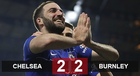 V35 NHA: Chelsea 2-2 Burnley