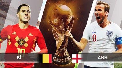 29/06 01:00 Bỉ vs Anh: Quyết chiến vì ngôi đầu
